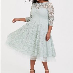 Torrid Mint Lace Special Occasion Dress